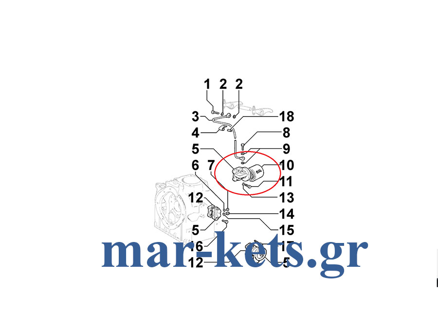 Φίλτρου λαδιού βάση με φίλτρο LOMBARDINI LDA 510, 640, 705, 100, 820